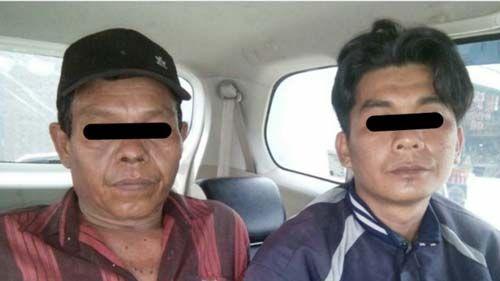 Dua Pembakar Lahan di di Jalan Beringin Payungsekaki Pekanbaru Ditangkap
