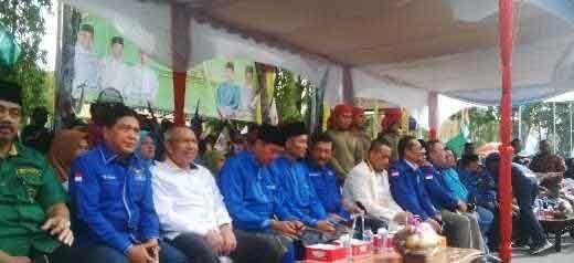 "Pimpinan Parpol Gantian ""Jualan"" Kelebihan Pasangan Firdaus-Ayat Cahyadi di Acara Deklarasi Menuju Pilkada Kota Pekanbaru, Ini Kata Mereka"