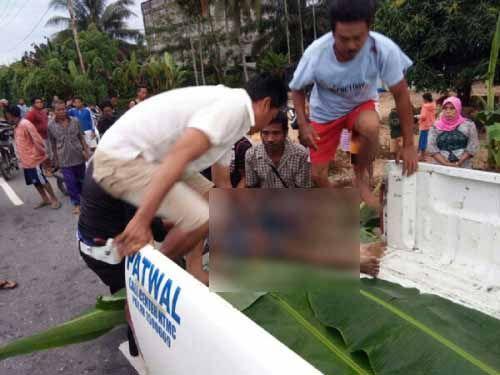 Pelajar SLTA di Kuala Cenaku Inhu Tewas Mengenaskan Diduga Korban Tabrak Lari di Jalan Lintas Rengat-Tembilahan