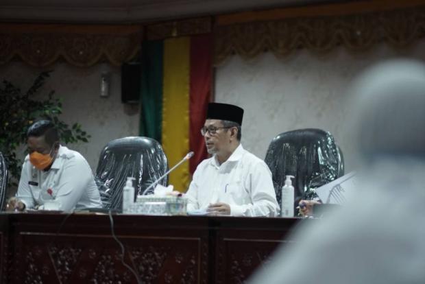 Rapat Persiapan Hari Jadi ke-64 Propinsi Riau, Sekdaprop: Pimpinan Anjurkan Hemat Anggaran dan Dilakukan Virtual.