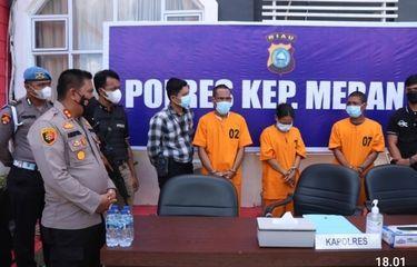 """""""Anak Hantu"""" Ditangkap Polisi karena Kasus Pencurian Motor di Kepulauan Meranti Riau"""