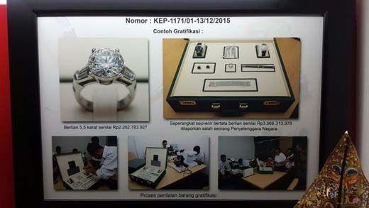 Gratifikasi Berlian Senilai Rp4 Miliar yang Dijanjikan KPK Dipamerkan ke Warga Riau Ternyata Milik Mantan Menteri Sudirman Said, Ini Dia Barangnya!