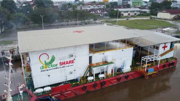 Rumah Sakit Apung Pertama di Atas Air Bersandar di Sungai Siak Pekanbaru untuk Bantu Pasien Corona