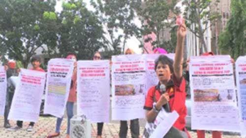 Bawa Bukti Rekaman, Massa Tuding Banyak ASN Terlibat Politik Praktis dalam Pilkada Kota Pekanbaru