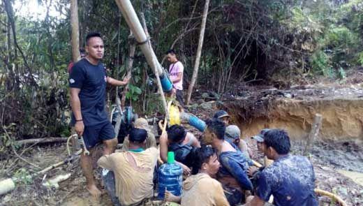 Kawanan Penambang Emas Ilegal di Kuansing Ditangkap, Empat Warga Sumut dan Seorang dari Jateng