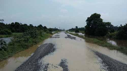 Ketinggian Air Menurun 10 Cm, Banjir di Pelalawan Mulai Surut
