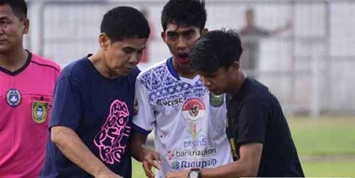 Tulang Rahang Bawah Gelandang PSPS Riau Firman Septian yang Disikut Pemain PSBL Langsa Ternyata Patah
