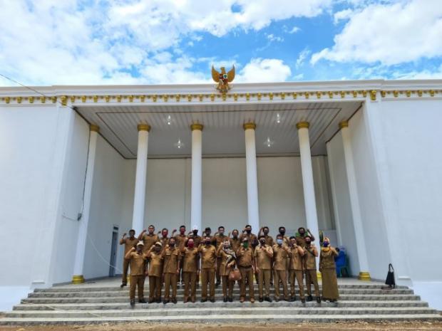 Megahnya Kantor Kepala Desa di Lampung yang Mirip Istana Merdeka