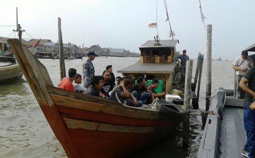 Kapal Kayu Pengangkut 141 TKI dari Malaysia Diamankan di Perairan Sinaboi Rohil