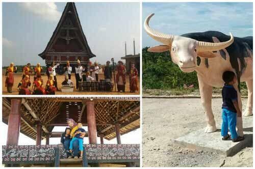 Seperti Berada di Pulau Samosir, di Kota Duri Bengkalis Telah Berdiri Objek Wisata yang Dibangun oleh Seorang Perempuan dan Langsung Ikut Bekerja Mengaduk Semen