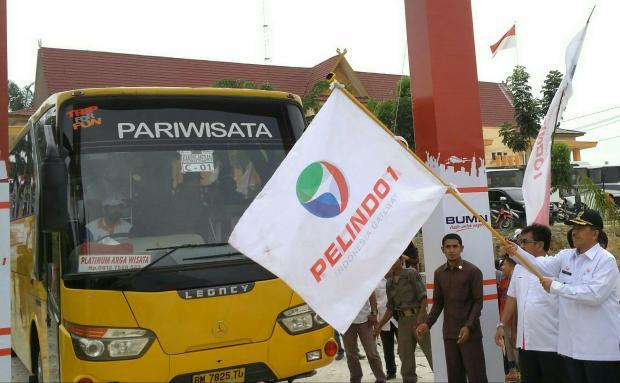 Mudik Lebaran 2017, Warga Kecamatan Kandis Dapat 3 Bus Gratis dari PT Pelindo 1