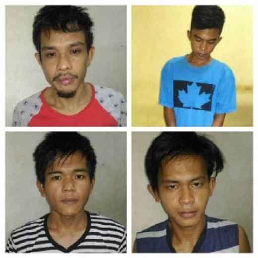 Inilah Foto 4 Tahanan yang Kabur dari Sel Mapolsek Kampar Kiri Hilir, Kenali Wajahnya dan kalau Melihat Segera Hubungi Polisi di Nomor Telepon Berikut
