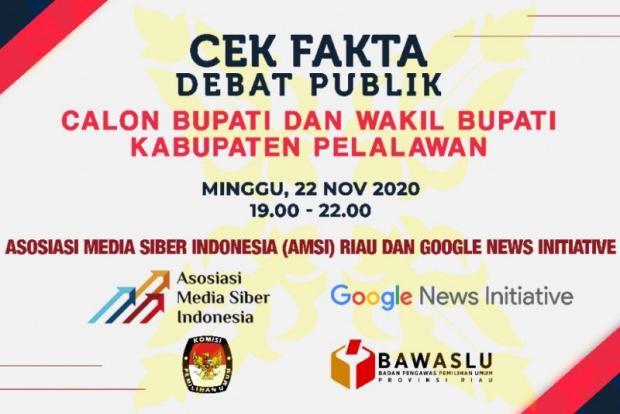Kali Pertama di Riau, AMSI Gelar Cek Fakta Debat Pilkada