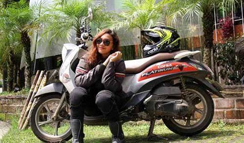 Kartini Menginspirasi Pengendara Cantik Ini Menjelajah 4200 Km dari Sabang hingga Bandung, Rute Toba-Pekanbaru Ditempuh dalam Waktu 28 Jam