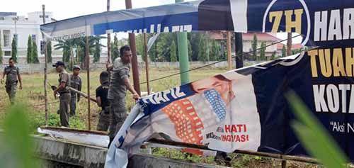 Reklame Ilegal Diyakini Masih Banyak Berdiri di Pekanbaru