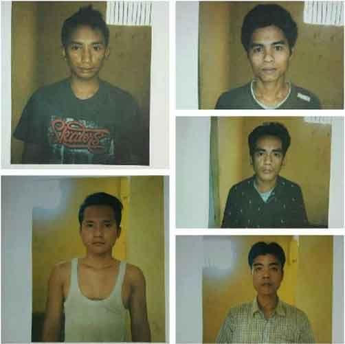Petugas Jaga Diduga Ketiduran, 5 Tahanan Polsek Kemuning Inhil Kabur dengan Menggergaji Terali Besi, Ini Wajah Mereka