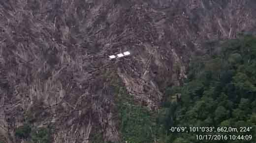 Belasan Hektar Hutan Lindung Bukitsianjung Desa Muara Selaya Kabupaten Kampar Masih Terbakar
