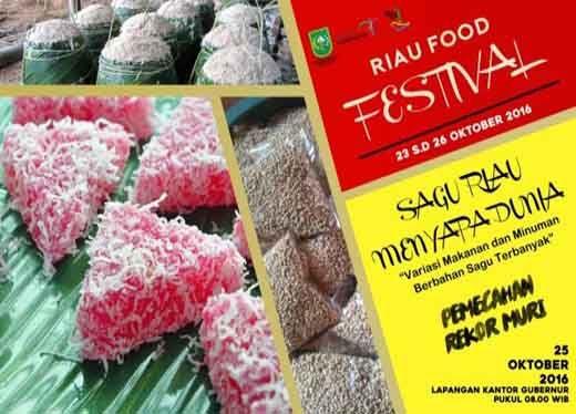 Warga Pekanbaru Tumpah Ruah di Festival Kuliner Sagu Riau