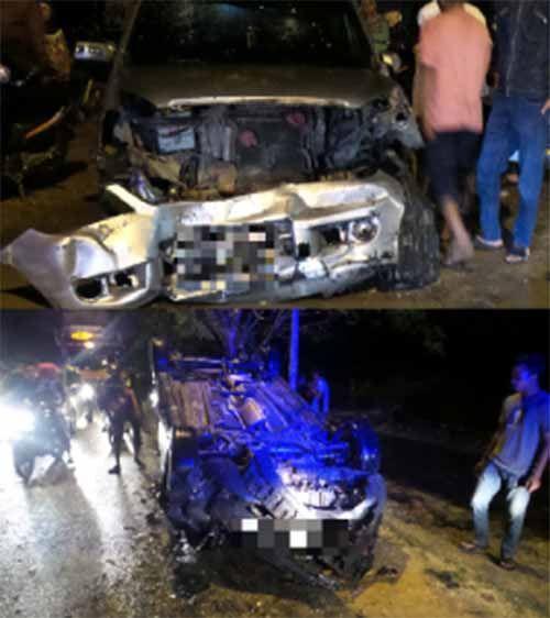 "Ford Fiesta ""Laga Kambing"" dengan Xenia setelah Gagal Nyalip di Jalan Parit Indah Pekanbaru"
