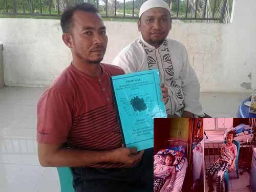 Orang Tua Bocah Penderita Jantung Bocor di Rohil Berharap Bantuan