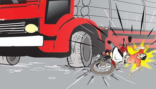 Pengendara Motor Warga Desa Kelawat Sei Lala Tewas Tertabrak Truk Tangki di Jalan Lintas Inhu-Kuansing