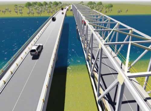 Duplikat Jembatan Leighton (Siak) II di Pekanbaru Diestimasi Berumur 100 Tahun