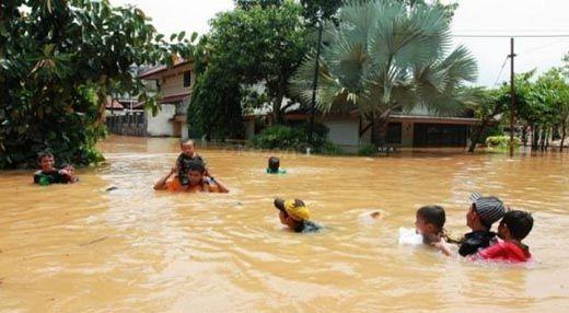 Ketinggian Banjir di Kecamatan Rambah Hilir Rohul Capai 1 Meter