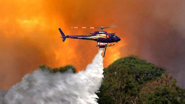 Lima Heli Dikirim Bantu Bantu Padamkan Kebakaran Hutan dan Lahan di Riau