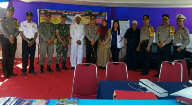 Rombongan Kapolda Riau Kunjungi Pos Pam Ramadniya di Kabupaten Siak