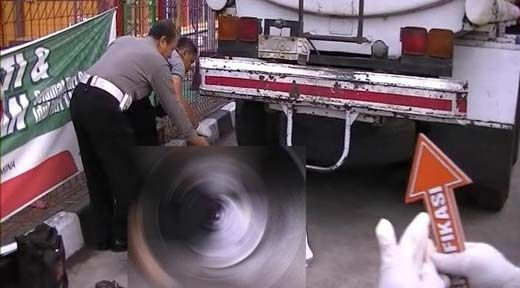 Senggolan Sesama Motor saat Salip Kendaraan Besar di Km 218-219 Dusun Murini Tambusai, Warga Rohul dan Sumut Meregang Nyawa di Kolong Truk Tangki